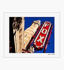 Fox Theatre Marquee - Atlanta Georgia Landmark - Small Print Photographic Print