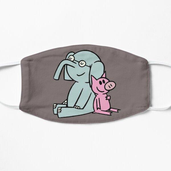 Elefant und Schweinchen. Gerald und Schweinchen. Anime transparenter Aufkleber, mo willems Flache Maske