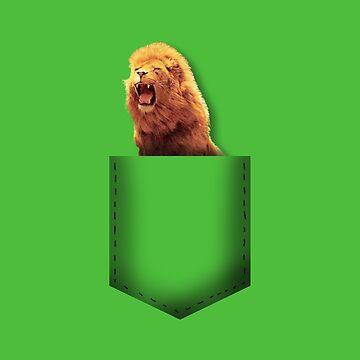 Lion pocket by whereismypanda