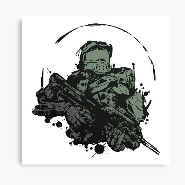 Master Chief Splash Fan Art Canvas Print