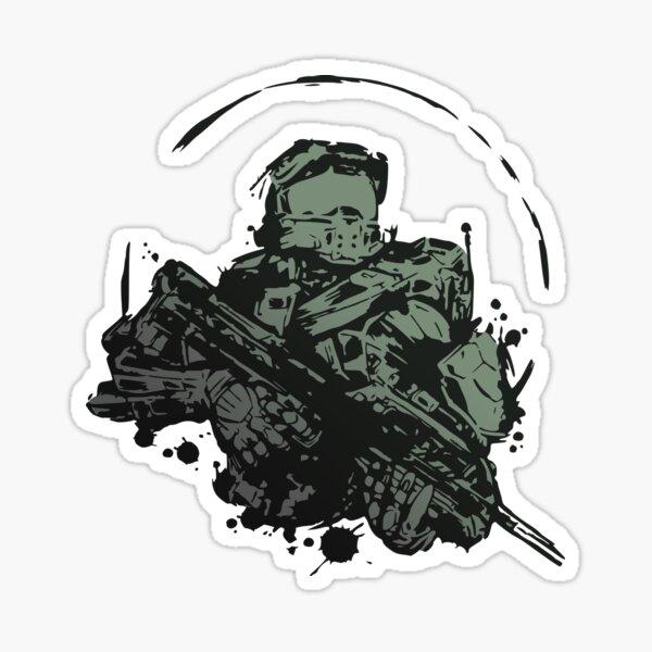 Master Chief Splash Fan Art Sticker