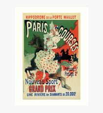 Paris horse races belle époque advert Jules Chéret Art Print