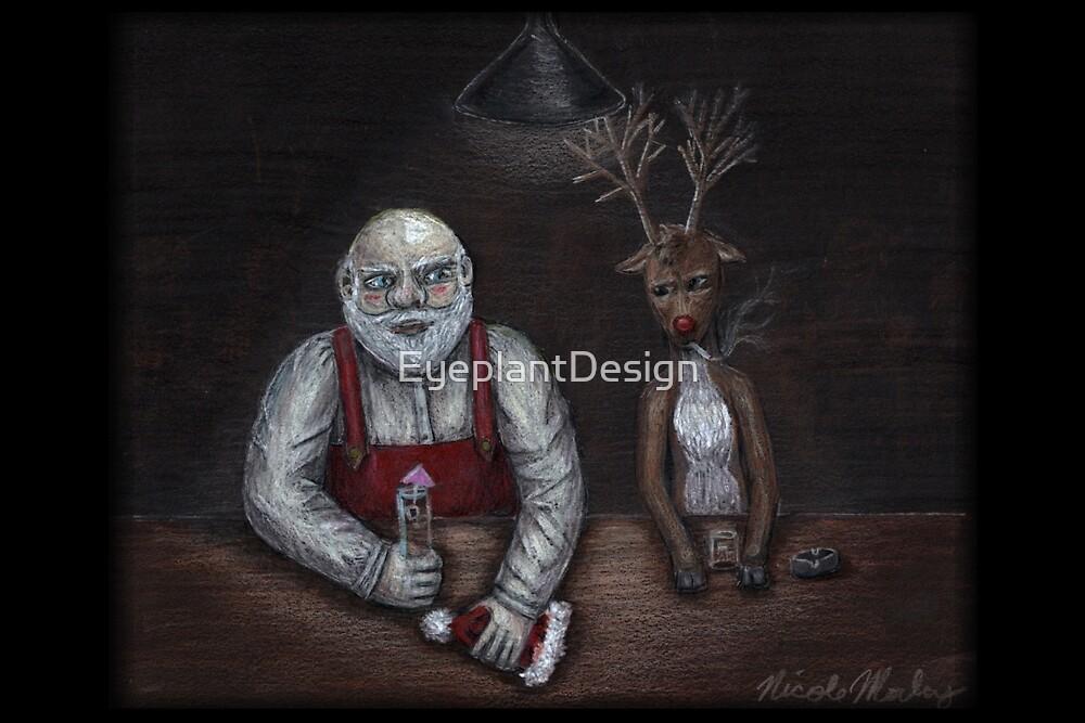 Santa and Rudolph walk into a bar... by EyeplantDesign