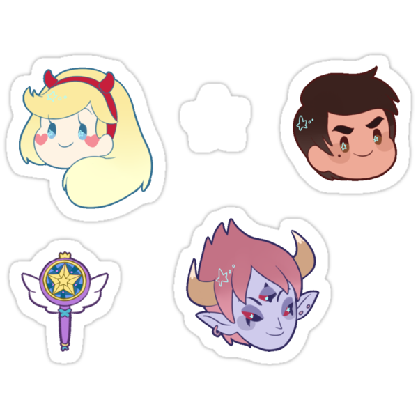 star vs the forces of evil stickers by toifshi redbubble