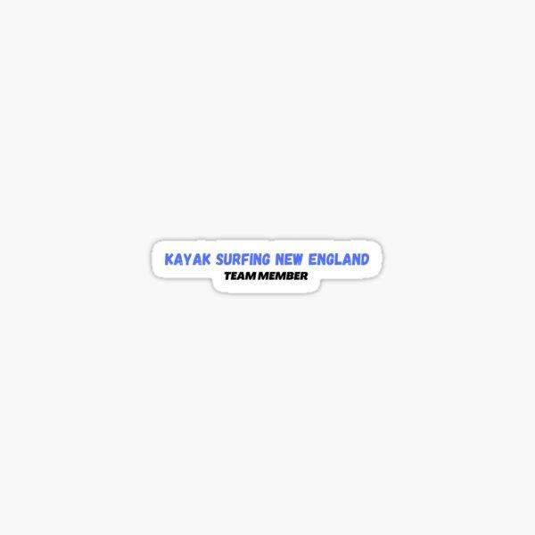 Kayak Surfing New England Sticker