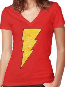 Shazam - DC Spray Paint Women's Fitted V-Neck T-Shirt