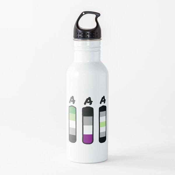 AAA aromantic asexual agender batteries Water Bottle
