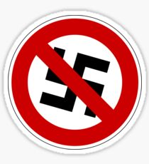 Anti-nazi for life. Sticker