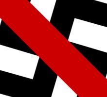 Anti-nazi for life. Sticker