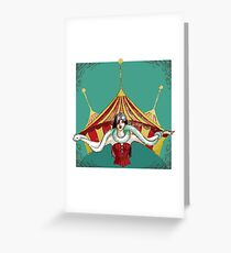 Tamer with snake Greeting Card