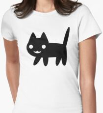 Cute Happy Cat Women's Fitted T-Shirt