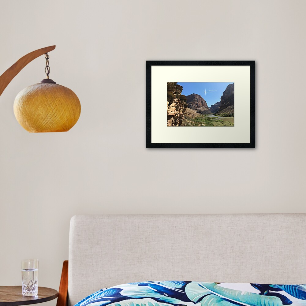 Grand Canyon Colorado River Scene - From ccnow.info Framed Art Print