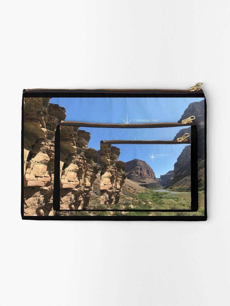Alternate view of Grand Canyon Colorado River Scene - From ccnow.info Zipper Pouch