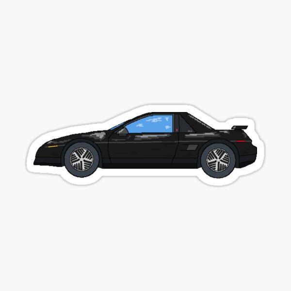 1986 Black Fiero Notchback SE Sticker