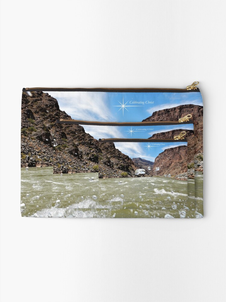 Alternate view of Colorado River Rafting Splash - From ccnow.info Zipper Pouch