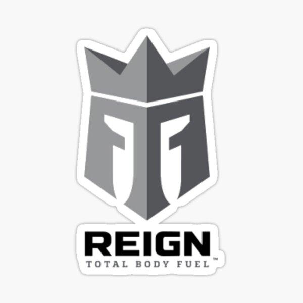 Logotipo de Reign Energy Drink Pegatina