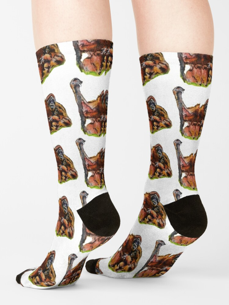 Alternate view of Orangutan Baby and mommy by Sarnia of London Socks