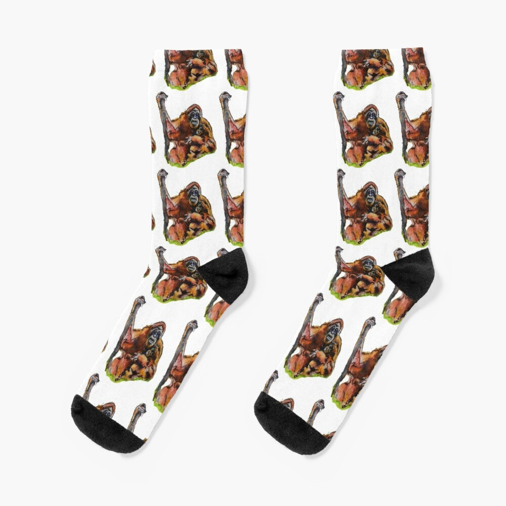 Orangutan Baby and mommy by Sarnia of London Socks