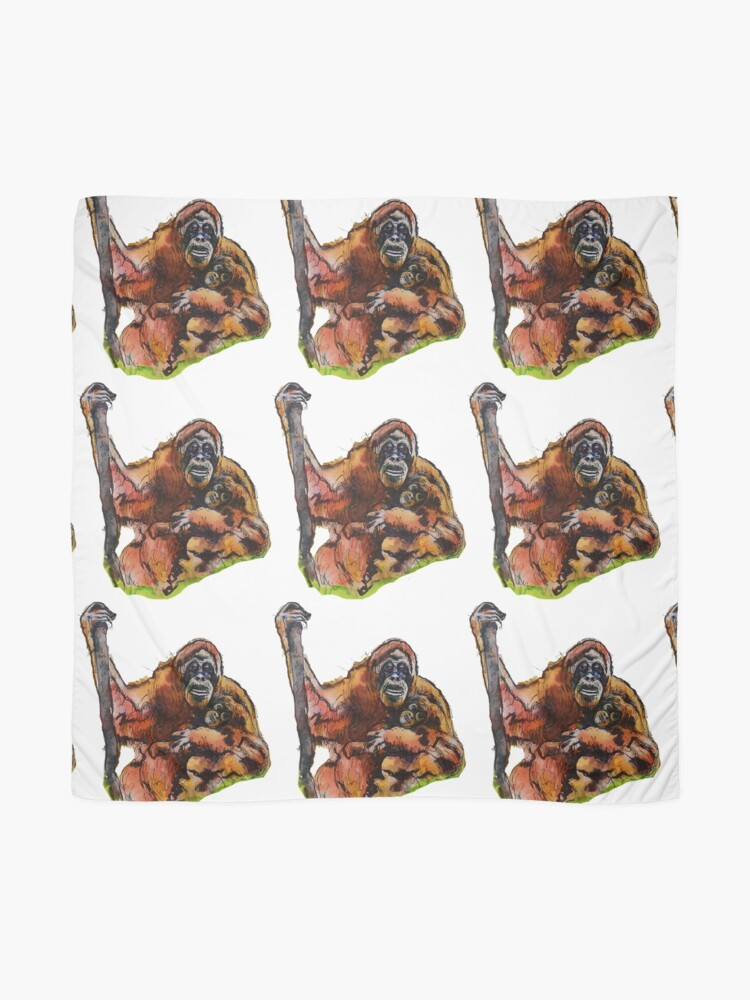Alternate view of Orangutan Baby and mommy by Sarnia of London Scarf
