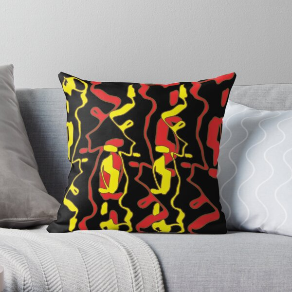 Frizzle Sticks but on black Throw Pillow