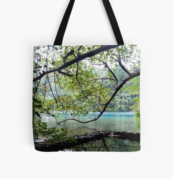 Blue Lagoon Pool - Jamaica All Over Print Tote Bag