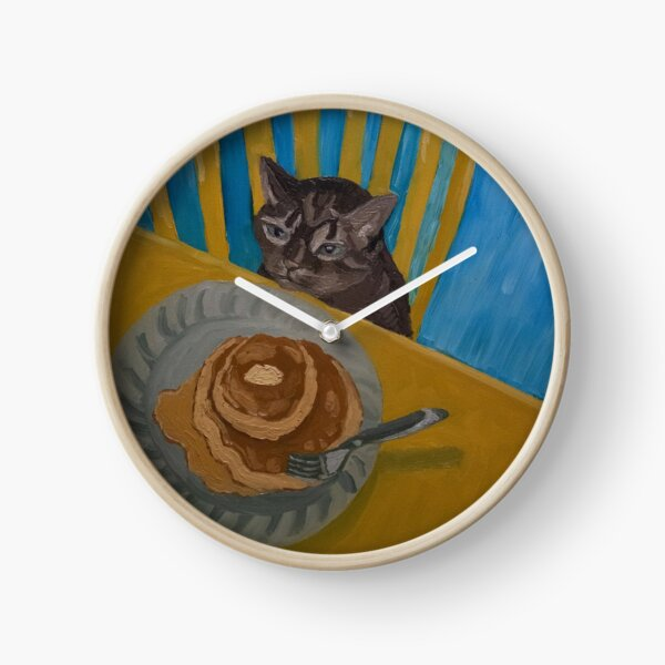 """""""Molly and The Pancakes,"""" Original Oil Painting Clock"""