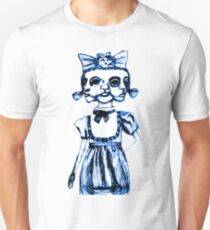 don't stare too long - blue ink drawing by minxi T-Shirt