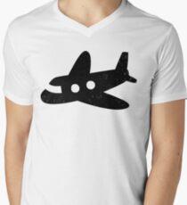 Cute Airplane Men's V-Neck T-Shirt