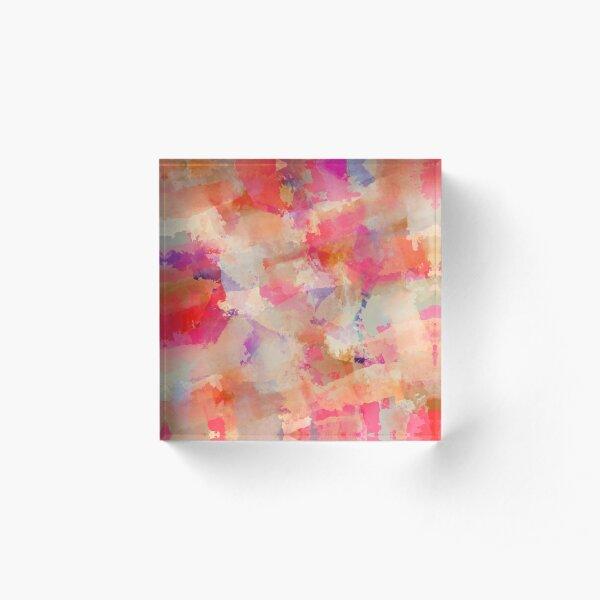 Rose 'n' lavender Acrylic Block