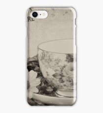 Vintage cup and saucer iPhone Case/Skin