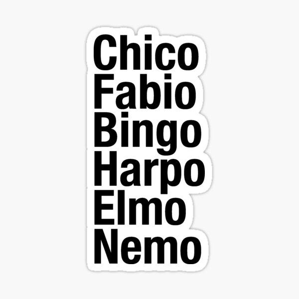 Encontrar la lista de nombres de Nemo Pegatina