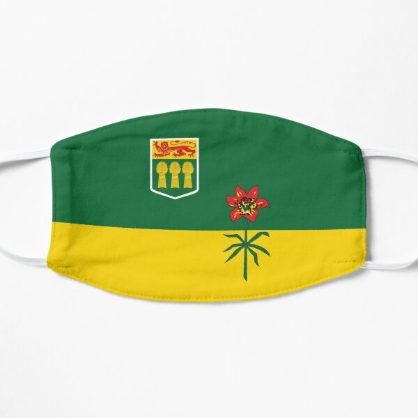 Saskatchewan flag Canada province yellow and green HD High Quality Online Store Mask