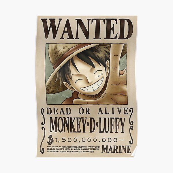 LUFFY One Piece Wanted Poster