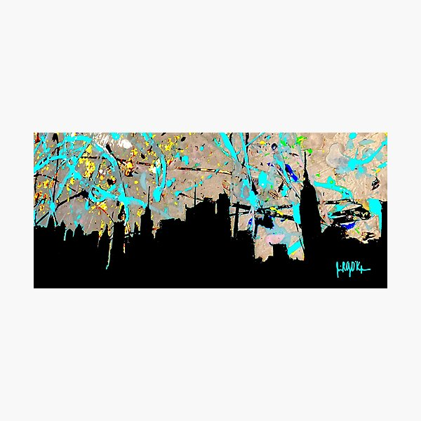 New York City in Vinyl Photographic Print