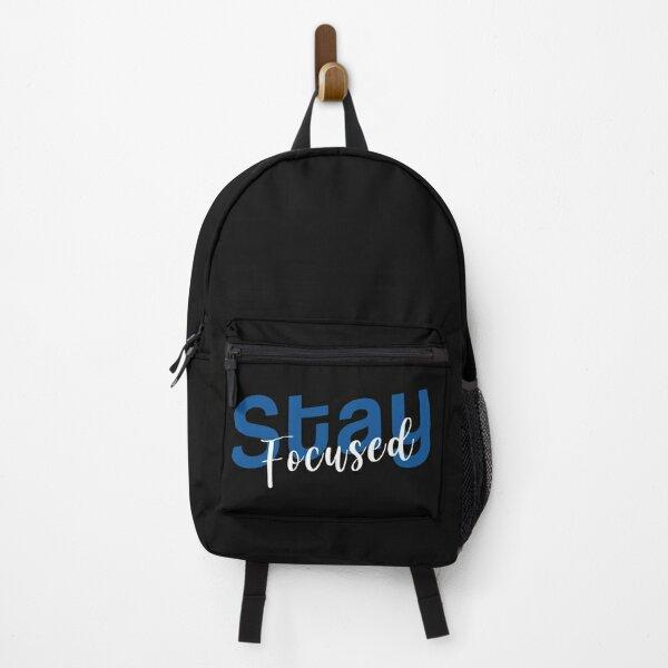 Stay Focused Inspirational Designed Gift Backpack