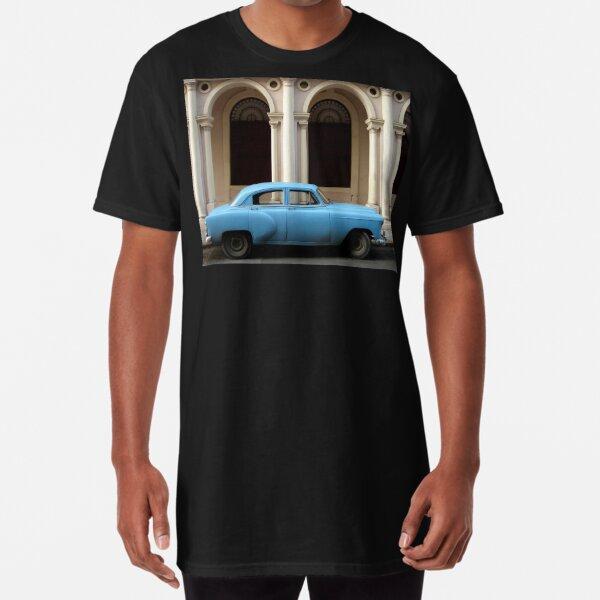 Blue Car - Havana, Cuba Long T-Shirt