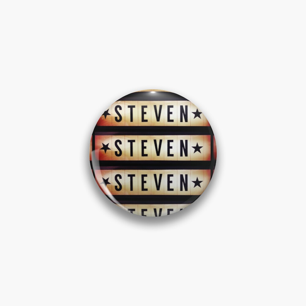 Steven, Steven mug, Steven mask, Steven sticker, Steven magnet  Pin