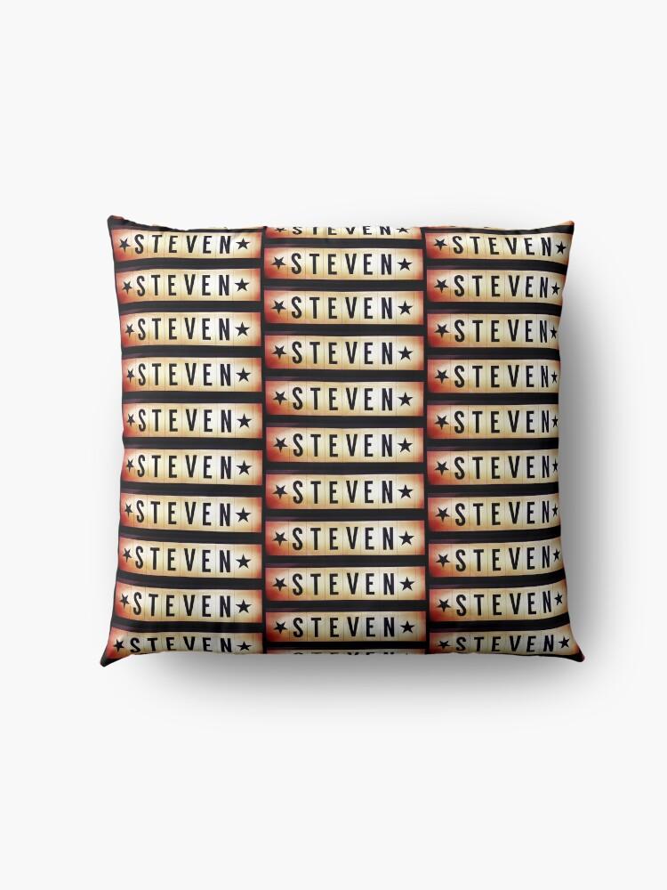 Alternate view of Steven, Steven mug, Steven mask, Steven sticker, Steven magnet  Floor Pillow