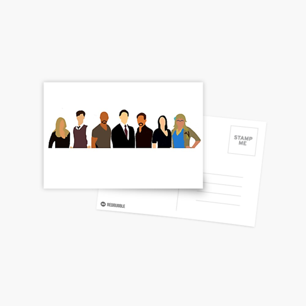 Criminal Minds: The Team Postcard