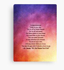 Dr. Seuss Quote  Canvas Print