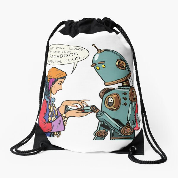 """""""Authors will Learn to love the FACEBOOK Algorithm, soon..."""" Drawstring Bag"""