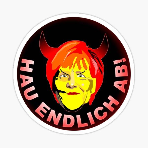 GET LOST! - Merkel MUST go! | Protest | demo Sticker