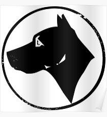 Dog Head (black) Poster