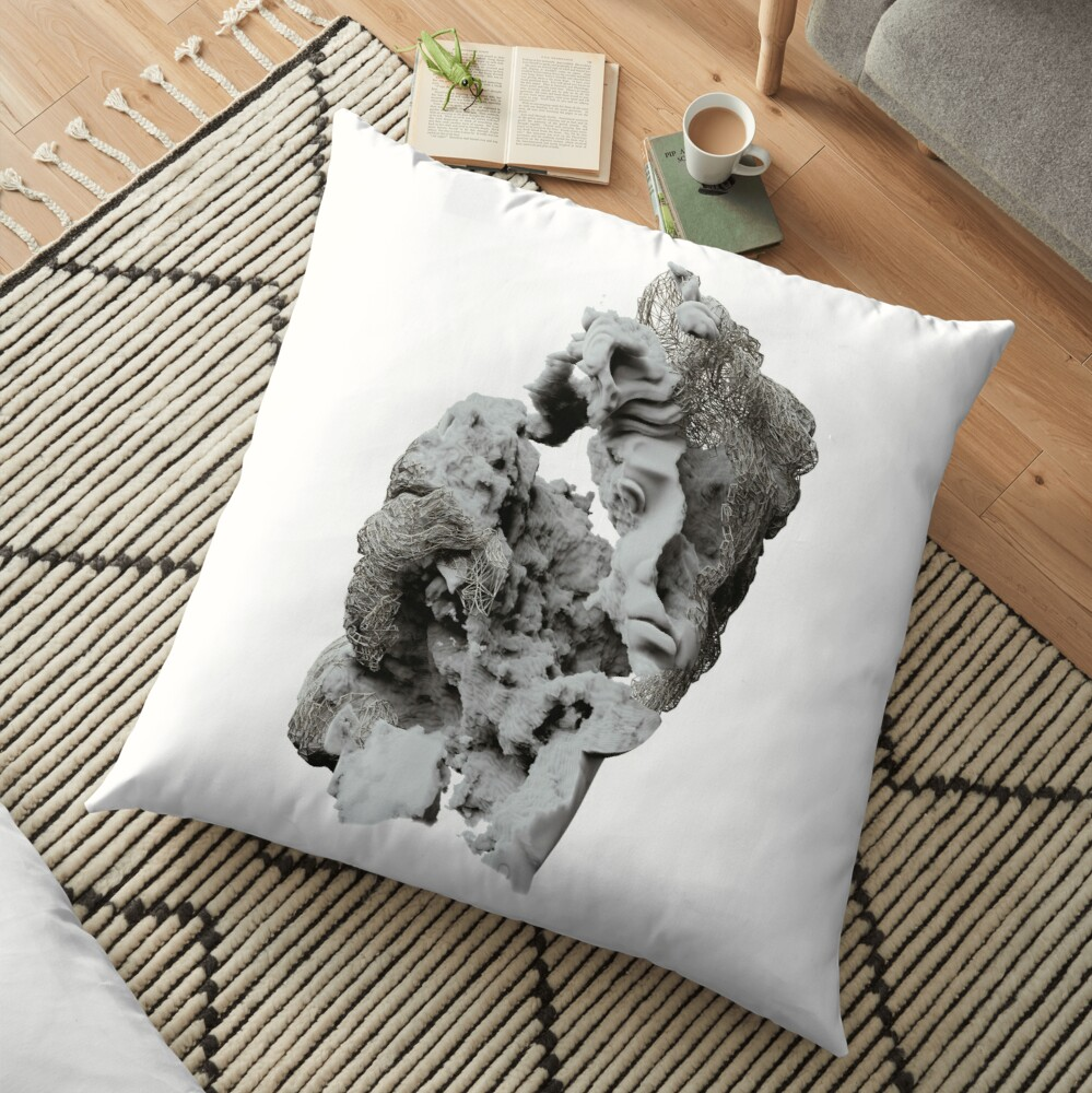 FACE IN CLOUDS Floor Pillow