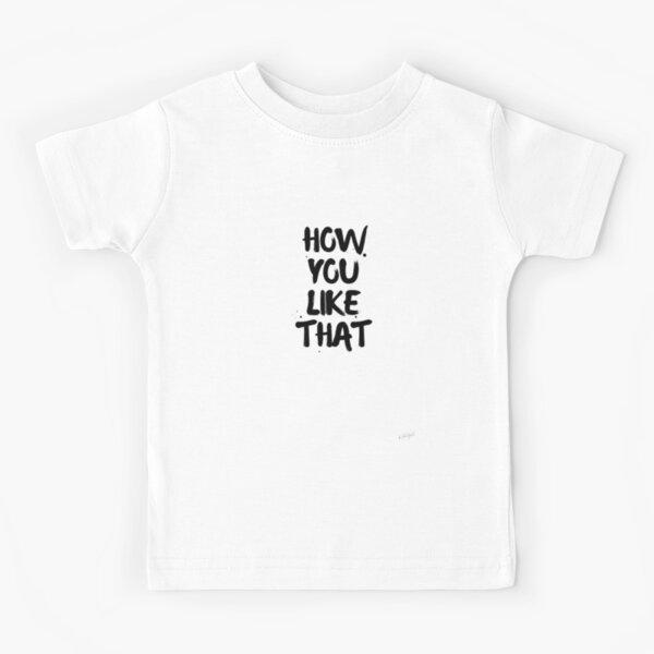 Cómo te gusta eso // HYLT Blackpink Logo Camiseta para niños