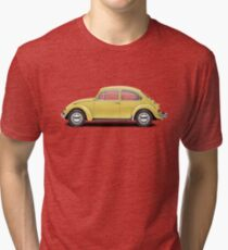 1972 Volkswagen Beetle - Saturn Yellow Tri-blend T-Shirt