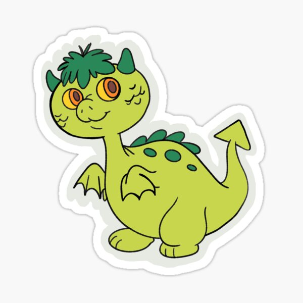 Matches, the Grimwood Dragon Sticker