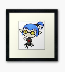 Chibi Inkling Boy (blue) Framed Print