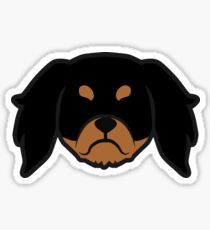 Cavalier King Charles Spaniels by Smooshface United - Cav silhouette Sticker
