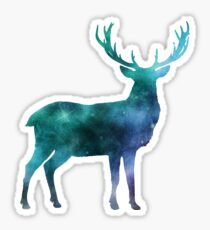 Galaxy Deer Sticker